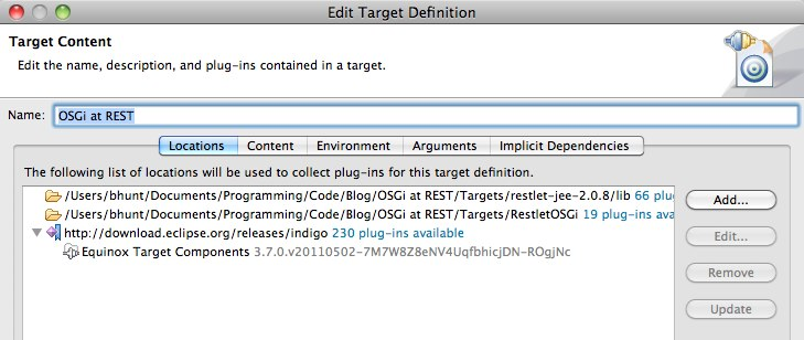 Edit Target Definition 1